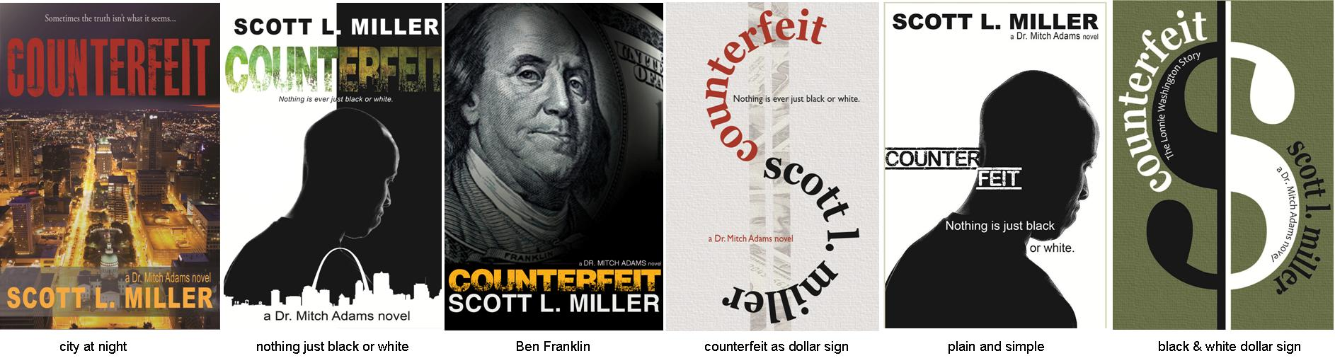 COUNTERFEIT cover selections for online poll